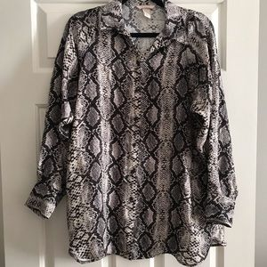 Animal print blouse size 0